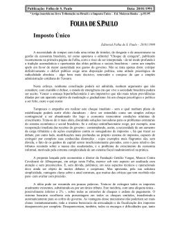 Imposto Único - Marcos Cintra