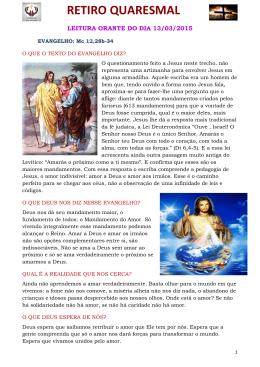 leitura orante do dia 13/03/2015