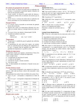 Física térmica 5 273 t 9 32 t 5 t − = − =