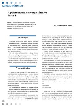 Artigo SBCC - Ed 46 - A psicrometria e a carga térmica