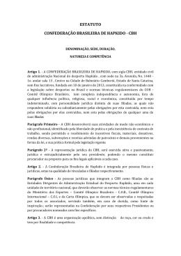 ARQUIVO EM PDF (baixar) - Confederação Brasileira de Hapkido