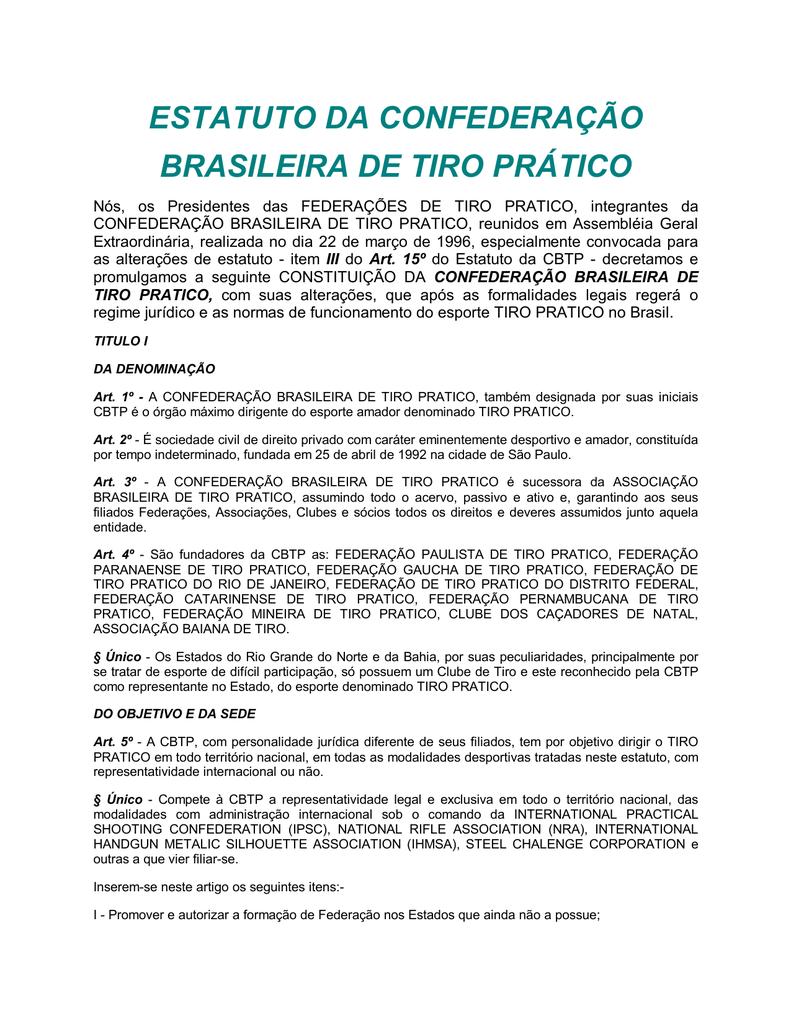 estatuto da confederação brasileira de tiro prático 5c743a3de5411