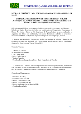 CONFEDERAÇÃO BRASILEIRA DE HIPISMO