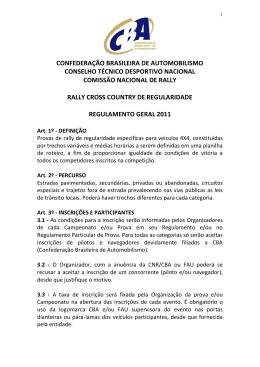 CONFEDERAÇÃO BRASILEIRA DE