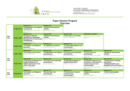 Paper Session Program Overview