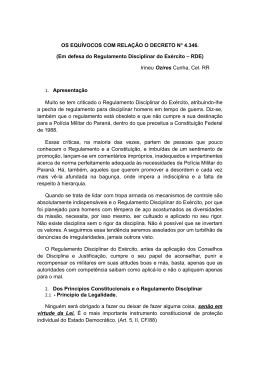 OS EQUÍVOCOS COM RELAÇÃO O DECRETO N° 4.346. (Em