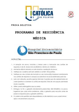 PROVA RESIDÊNCIA GERAL 2011-2