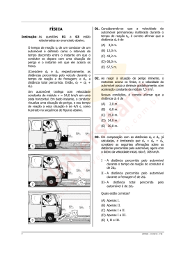 Prova de Física | Vestibular UFRGS 2012