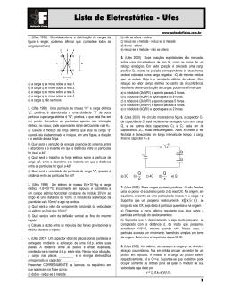 Lista de Eletro Lista de Eletrostática - Ufes Ufes