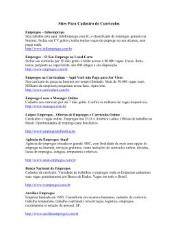 Sites Para Cadastro de Currículos Empregos – Infoemprego