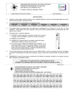 Prova Vocacionada - QUI BIO FIS - CPS