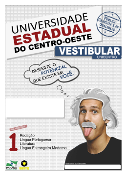 Provas - Universidade Estadual do Centro