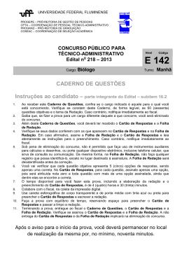 Prova - Uff - Universidade Federal Fluminense
