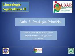 Aula 3 - Ecologia e Gestão Ambiental - UFMG