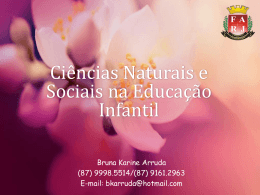 Ciências Naturais e Sociais na Educação Infantil