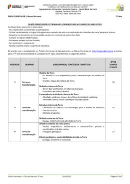 Ciências Naturais - Agrupamento de Escolas Fernando Pessoa
