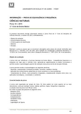 CIÊNCIAS NATURAIS - Escola Básica Casaínhos