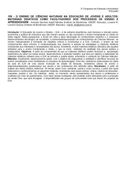 109 - O ENSINO DE CIÊNCIAS NATURAIS NA