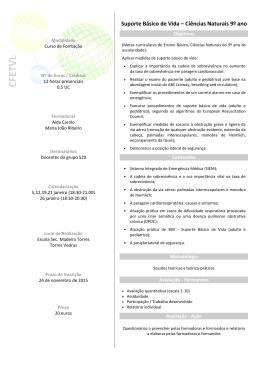 Ciências Naturais 9º ano - Centro de Formação das Escolas de