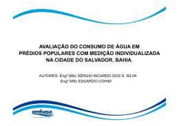avaliação do consumo de água em prédios populares com medição