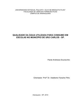 Texto Integral - Faculdade de Ciências Farmacêuticas