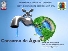 Consumo de água, abrir em PDF