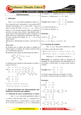 Determinantes_ 01 - Professor Claudio Cabral