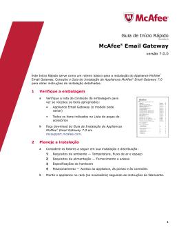 McAfee Email Gateway 7.0.0 Guia de Início Rápido