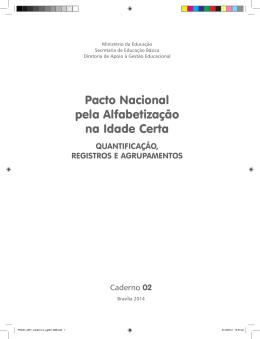 Caderno 2 - QUANTIFICAÇÃO, REGISTROS E AGRUPAMENTOS