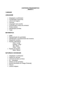 CONTEÚDO PROGRAMÁTICO GRUPO 4 I