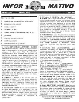 Editorial: Ronaib Costa Ferreira (Síndico) - Principal