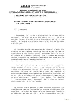 SUBPROGRAMA DE CONTROLE E MONITORAMENTO DE