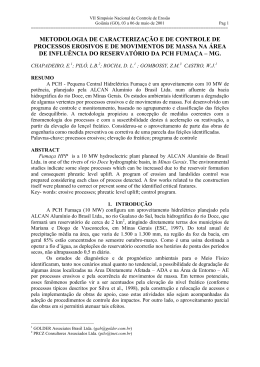 METODOLOGIA DE CARACTERIZAÇÃO E DE