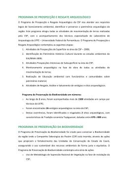 PROGRAMAS DE SUSTENTABILIDADE