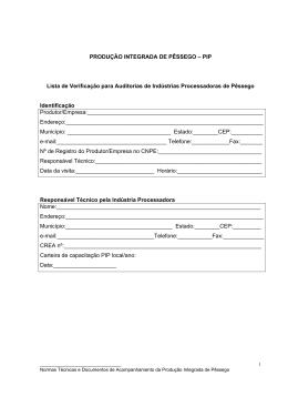 Lista de Verificação de Indústrias