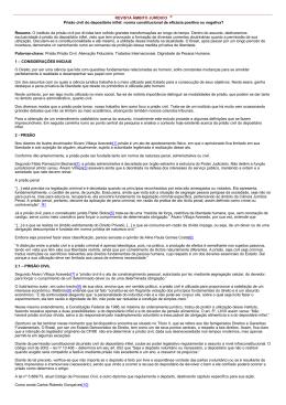 REVISTA ÂMBITO JURÍDICO ® Prisão civil do depositário infiel