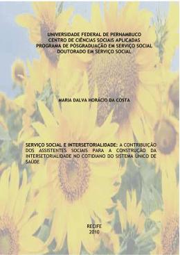 COSTA, Ma.Dalva H da. Tese Doutorado PPGSS_UFPE