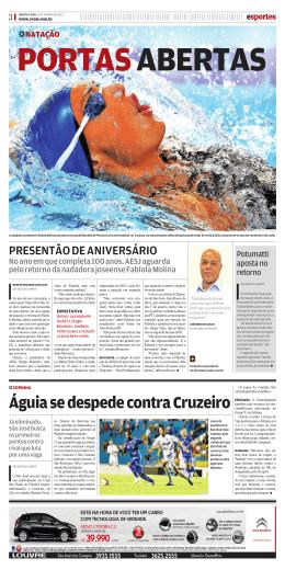 Águia se despede contra Cruzeiro