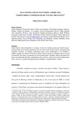 DAVI CONTRA GOLIAS NO FUTEBOL AMERICANO