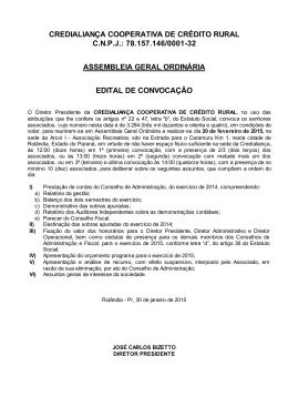 COOPERATIVA DE CRÉDITO RURAL ROLÂNDIA