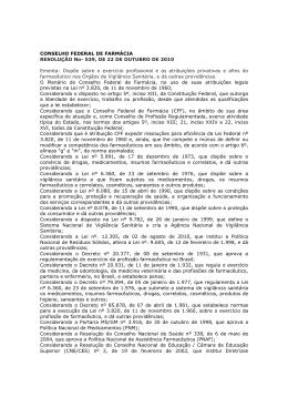 Resolução 539 - CRF-SP