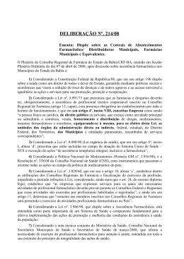 Deliberação plenária nº. 214/2008