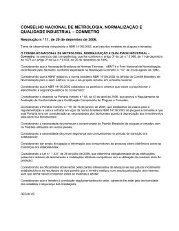 Resolução CONMETRO 11/2006 - Abinee