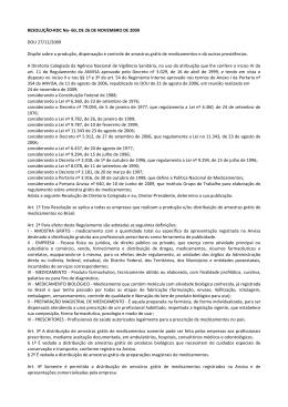RDC 60-2009 regras amostras gratis