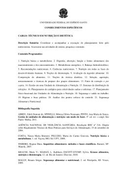 CONHECIMENTOS ESPECÍFICOS CARGO: TÉCNICO EM