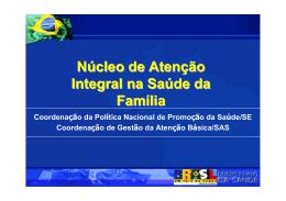 Núcleo de Atenção Integral na Saúde da Família