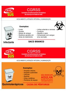 Identificação para resíduos de serviço de saúde