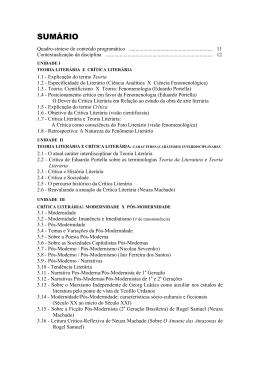 crítica literária - Universidade Castelo Branco