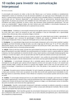 10 razões para investir na comunicação interpessoal - sindcon-rj