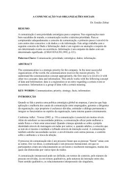 A COMUNICAÇÃO NAS ORGANIZAÇÕES SOCIAIS Dr. Emídio
